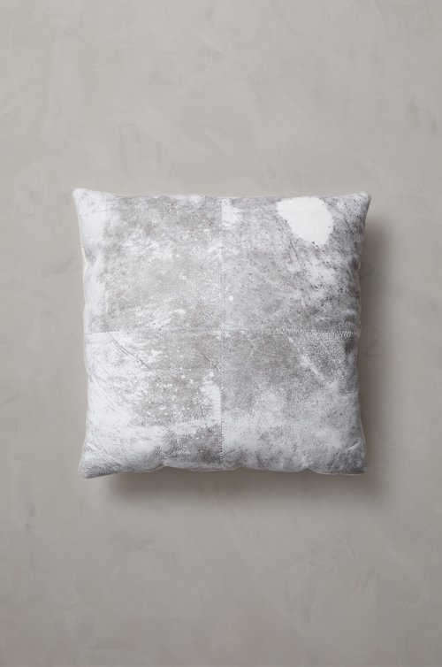 """20"""" x 20"""" Argentine Hairless Cowhide Pillow"""