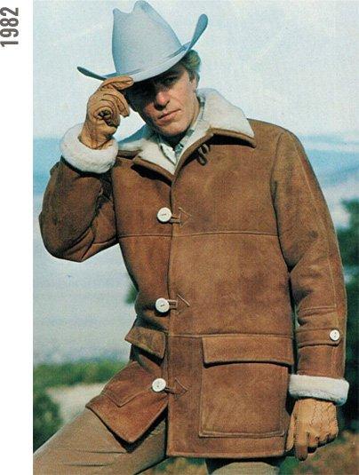 Man in sheepskin coat, 1982