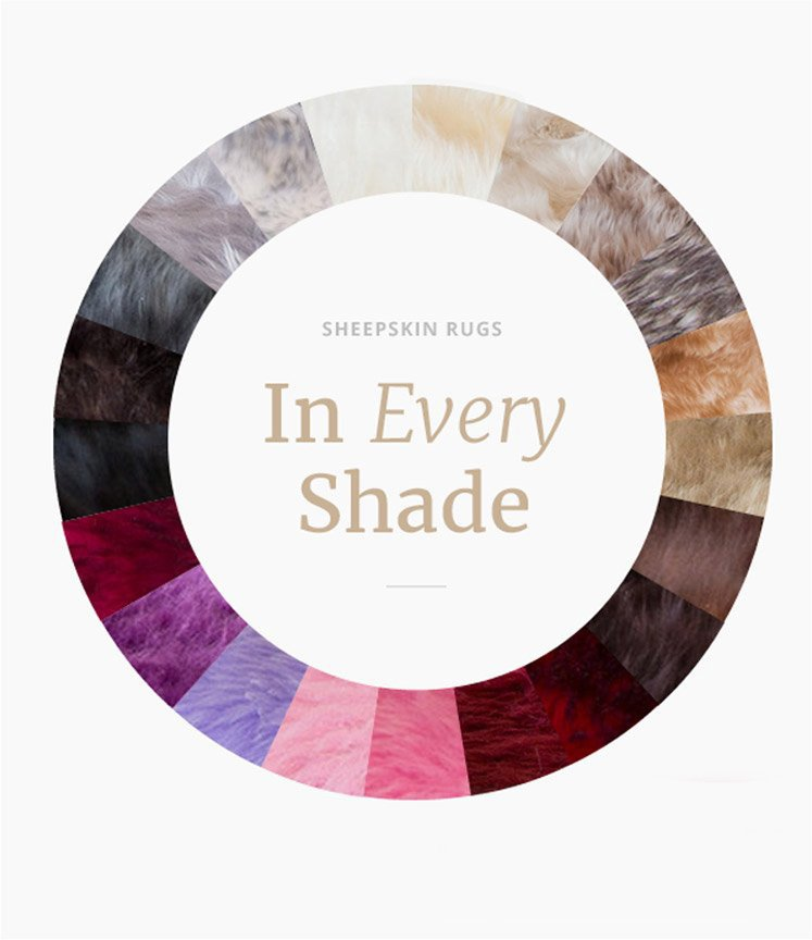Sheepskin Rugs - In Every Shade - Discover New Colors