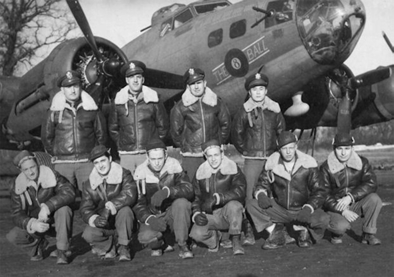 World War 2 pilots wearing Bomber Jackets