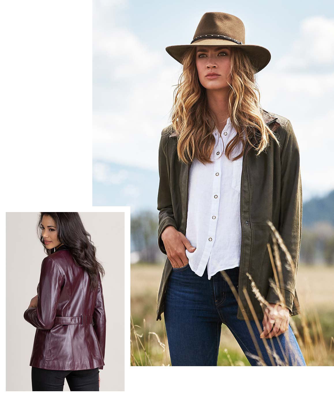 Mid-length Leather Jacket
