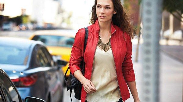 colorful leather jacket